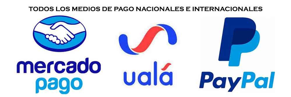 TODOS LOS MEDIOS DE PAGO NACIONALES E INTERNACIONALES