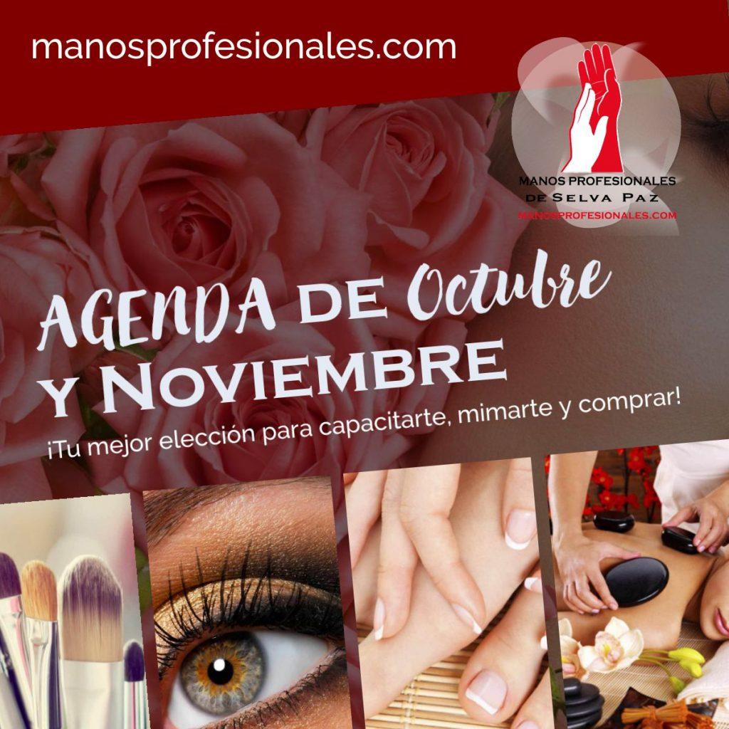 Agenda de CAPACITACIÓN Octubre y Noviembre en Manos Profesionales