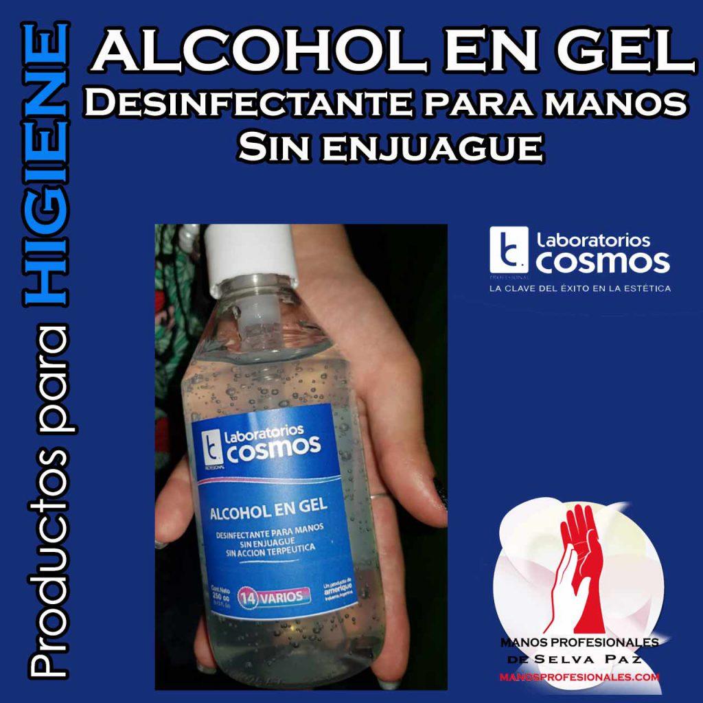 ALCOHOL EN GEL. Desinfectante para manos Sin enjuague