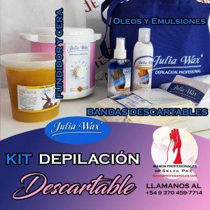 Kits para 🌺DEPILACIÓN DESCARTABLE de la Línea Julia Wax