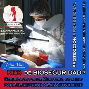 KITS DE BIOSEGURIDAD PARA SANITIZAR AMBIENTES, PERSONAS Y OBJETOS en MANOS PROFESIONALES