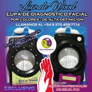 LUZ DE WOOD Lupa de diagnóstico facial por colores