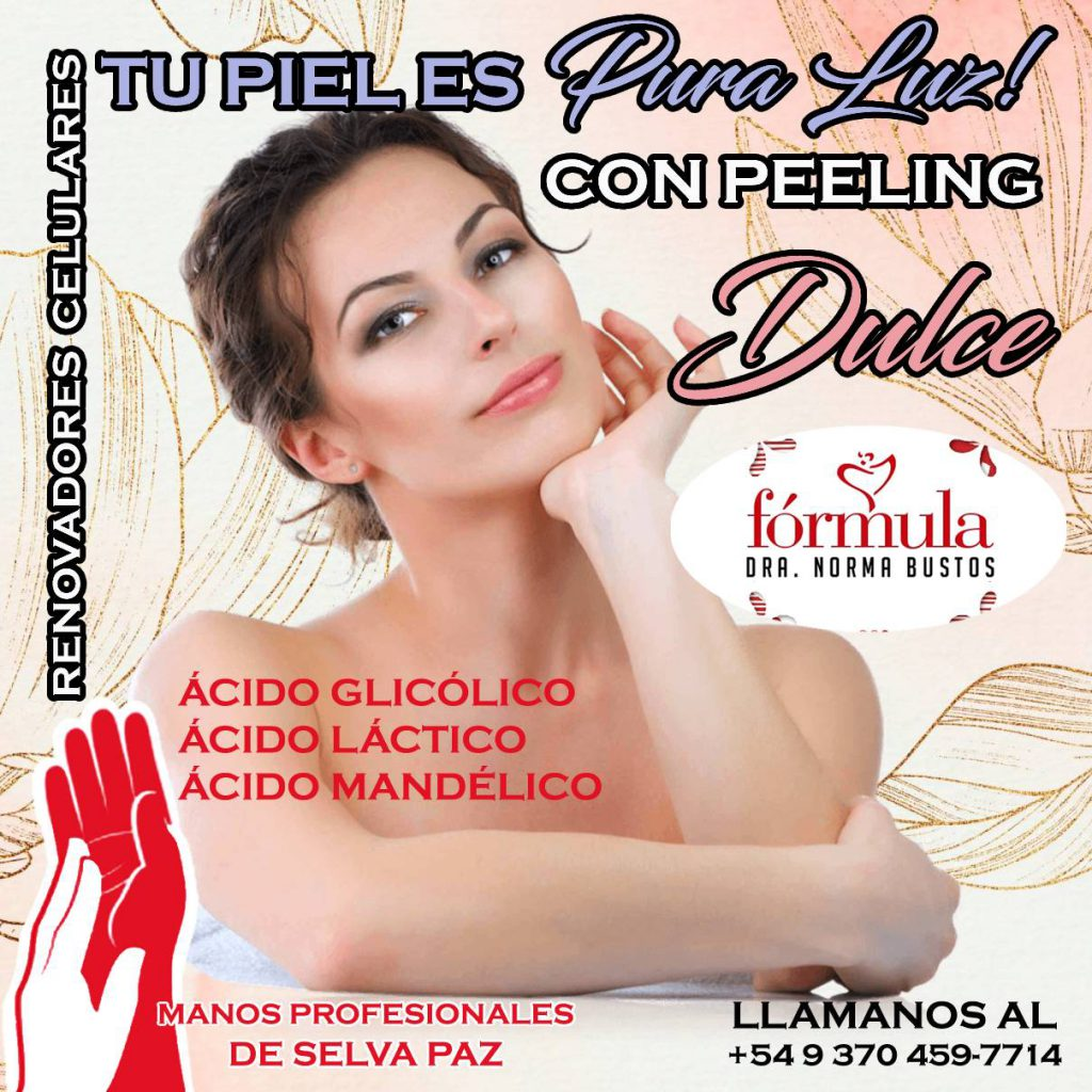 PEELING DULCE EN INVIERNO. Fórmula Dra. Norma Bustos