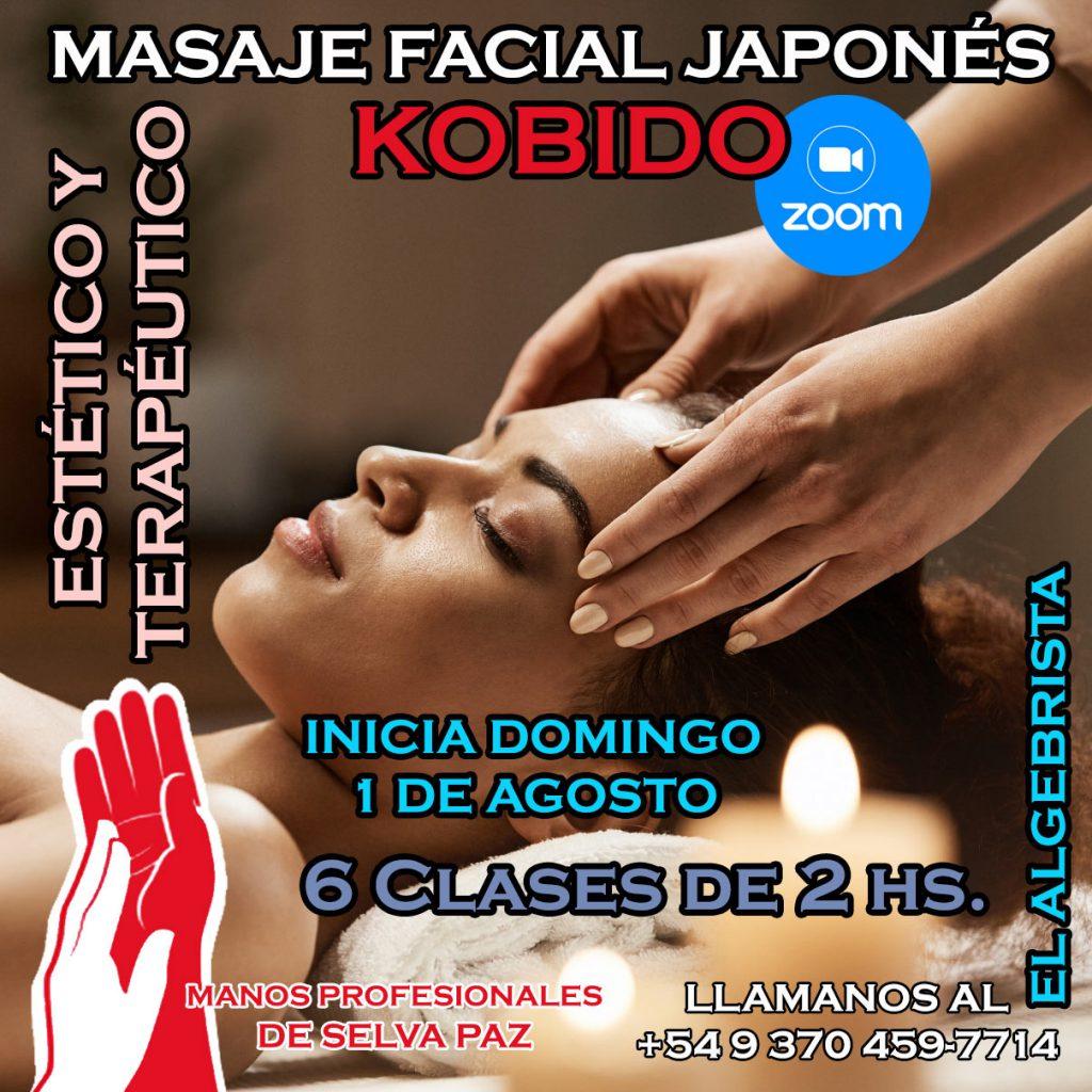 """Curso """"MASAJE FACIAL JAPONÉS KOBIDO"""" El Algebrista"""